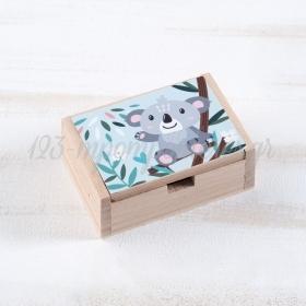Ξύλινο Κουτάκι Κοάλα 10.5x7x4cm - ΚΩΔ:LN970-PR
