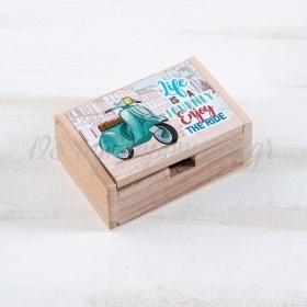 Ξύλινο Κουτάκι Βέσπα 10.5x7x4cm - ΚΩΔ:LN975-PR