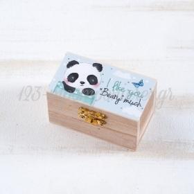 Ξυλινο Σεντουκι Panda 8.5X4.5X5Cm - ΚΩΔ:Ls955-Pr