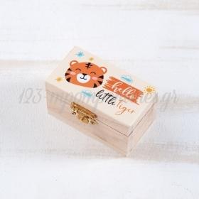 Ξυλινο Σεντουκι Τιγρης 8.5X4.5X5Cm - ΚΩΔ:Ls965-Pr
