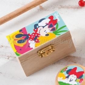 Ξυλινο Σεντουκι Minnie Tropical 8.5X4.5X5Cm - ΚΩΔ:Na1103-Pr