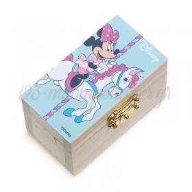 Ξυλινο Σεντουκι Minnie Carousel 8.5X4.5X5Cm - ΚΩΔ:Na1116-Pr