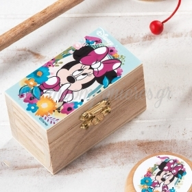 Ξυλινο Σεντουκι Minnie Bloom 8.5X4.5X5Cm - ΚΩΔ:Na1129-Pr