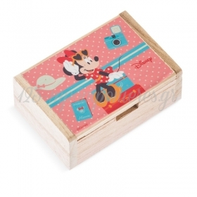 Ξύλινο Κουτάκι Minnie Travel 10.5x7x4cm - ΚΩΔ:NA142-PR
