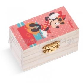 Ξυλινο Σεντουκι Minnie Travel 8.5X4.5X5Cm - ΚΩΔ:Na144-Pr