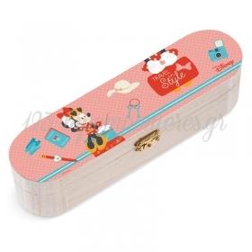 Ξυλινη Κασετινα Minnie Travel 23X6X6Cm - ΚΩΔ:Na145-Pr