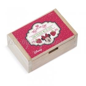 Ξύλινο Κουτάκι Minnie Φράουλες 10.5x7x4cm - ΚΩΔ:NA146-PR