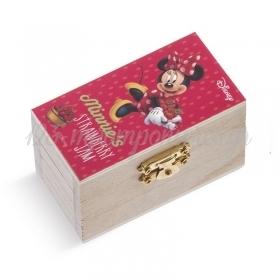 Ξύλινο Σεντούκι Minnie Φράουλες 8.5x4.5x5cm - ΚΩΔ:NA149-PR
