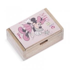 Ξύλινο Κουτάκι Minnie Νεράιδα 10.5x7x4cm - ΚΩΔ:NA153-PR