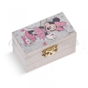 Ξύλινο Σεντούκι Minnie Νεράιδα 2 8.5x4.5x5cm - ΚΩΔ:NA165-PR