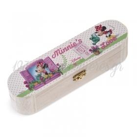 Ξυλινη Κασετινα Minnie Λουλουδια 23X6X6Cm - ΚΩΔ:Na174-Pr