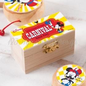 Ξυλινο Σεντουκι Mickey Carnival 8.5X4.5X5Cm - ΚΩΔ:Na2103-Pr