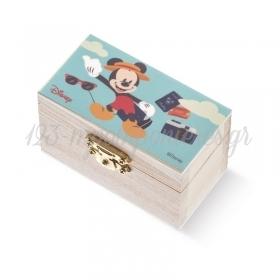 Ξύλινο Σεντούκι Mickey Travel 8.5x4.5x5cm - ΚΩΔ:NA243-PR