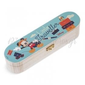 Ξυλινη Κασετινα Mickey Travel 23X6X6Cm - ΚΩΔ:Na244-Pr