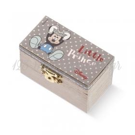 Ξύλινο Σεντούκι Mickey Prince 8.5x4.5x5cm - ΚΩΔ:NA248-PR