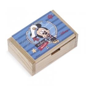 Ξύλινο Κουτάκι Mickey Ναυτικό 10.5x7x4cm - ΚΩΔ:NA267-PR