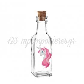 Γυάλινο Μπουκάλι με Εκτύπωση Μονόκερος 4.5X17cm - ΚΩΔ:M10421-AD