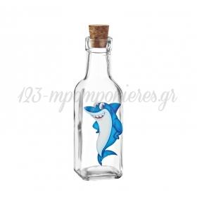 Γυάλινο Μπουκάλι με Εκτύπωση Καρχαρίας 4.5X17cm - ΚΩΔ:M10419-AD