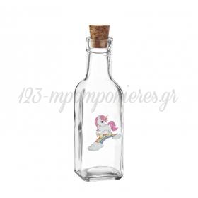 Γυάλινο Μπουκάλι με Εκτύπωση Μονόκερος 4.5X17cm - ΚΩΔ:M10424-AD