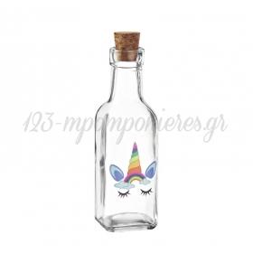 Γυάλινο Μπουκάλι με Εκτύπωση Μονόκερος 4.5X17cm - ΚΩΔ:M10425-AD