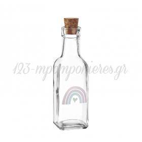Γυάλινο Μπουκάλι με Εκτύπωση Ουράνιο Τόξο 4.5X17cm - ΚΩΔ:M10430-AD