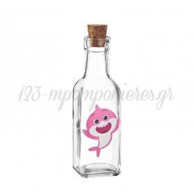 Γυάλινο Μπουκάλι με Εκτύπωση Baby Shark 4.5X17cm - ΚΩΔ:M10420-AD