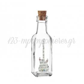 Γυάλινο Μπουκάλι με Εκτύπωση Κιθάρα με Νότες 4.5X17cm - ΚΩΔ:M10427-AD