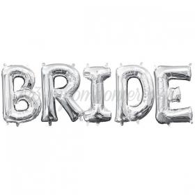 """Μπαλόνια Foil Ασημί Bride 16""""(40cm) - ΚΩΔ:526LPH1-2-BB"""