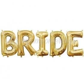 """Μπαλόνια Foil Χρυσά Bride 16""""(40cm) - ΚΩΔ:526LPH1-1-BB"""