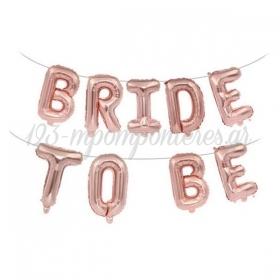 """Μπαλόνια Foil Ροζ-Χρυσό Bride to be 40""""(100cm) - ΚΩΔ:526LPH12-1-BB"""