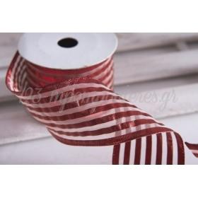 Κορδέλα lurex κόκκινο 60mm - 9.14m - ΚΩΔ:600857-NT