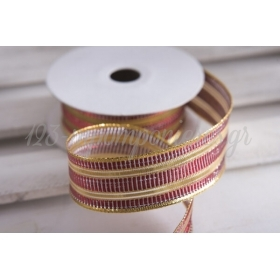 Κορδέλα lurex κόκκινο-χρυσό 30mm - 9.14m - ΚΩΔ:630531-NT