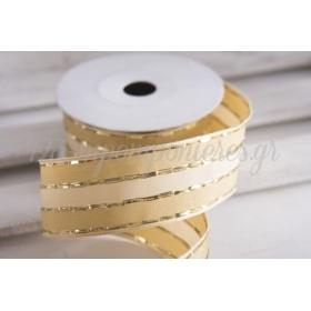 Κορδέλα lurex χρυσό 40mm - 9.14m - ΚΩΔ:640702-NT