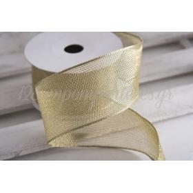 Κορδέλα lurex χρυσή 50mm - 9.14m - ΚΩΔ:650673-NT