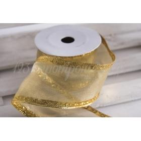 Κορδέλα lurex χρυσή 60mm - 9.14m - ΚΩΔ:660010-NT