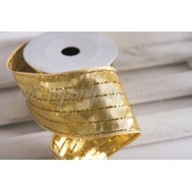 Κορδέλα lurex χρυσή 60mm - 9.14m - ΚΩΔ:660107-NT