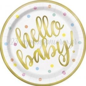 Πιατάκια Χάρτινα Hello Baby - ΚΩΔ:73525-BB