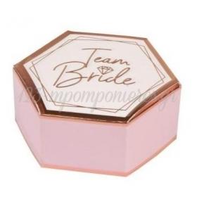 Κουτάκια δώρου Team Bride 9x5x3cm - ΚΩΔ:9909900-BB