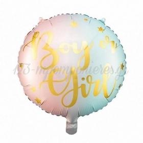 """Μπαλόνι Foil 18""""(45cm) Gender Reveal """"Boy or Girl"""" - ΚΩΔ:FB83-BB"""