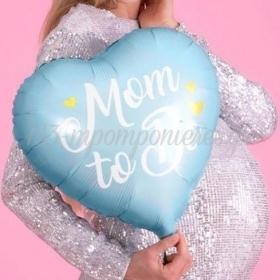 """Μπαλόνι Foil 14""""(35Cm) Mom to Be Γαλάζιο - ΚΩΔ:FB92-001-BB"""
