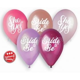 Μπαλόνια Latex Bride to Be 13''(33cm) – ΚΩΔ:GMS120-LNG-BB