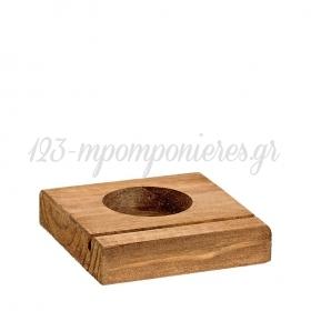 Ξύλινη Βάση για Ρεσώ 8X7.8X1.5cm - ΚΩΔ:M4748-1-AD