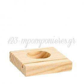 Ξύλινη Βάση για Ρεσώ 8X7.8X1.5cm - ΚΩΔ:M4748-2-AD