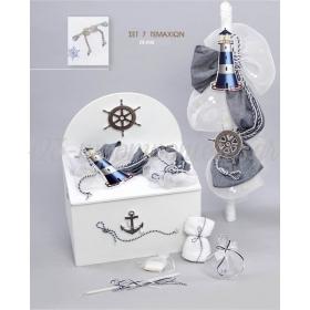 Πακέτο βάπτισης ναυτικό με άγκυρα και φάρους - Σετ 7 τεμαχίων - ΚΩΔ:29-046-ZB