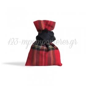 Πουγκι Υφασματινο Καρω Κοκκινο - 12Χ17 - ΚΩΔ:375901-Nt