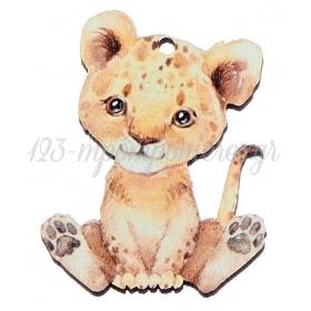 Ξύλινο Λιονταράκι 4X5cm - ΚΩΔ:M10462-AD
