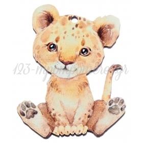 Ξύλινο Λιονταράκι 5X7cm - ΚΩΔ:M10463-AD