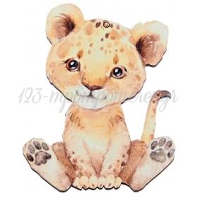 Ξύλινο Λιονταράκι 7.5X10cm - ΚΩΔ:M10464-AD