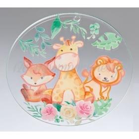 Plexiglass Διακοσμητικό με Ζώα της Ζούγκλας 7cm - ΚΩΔ:M10482-AD