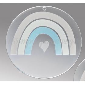 Plexiglass Διακοσμητικό με Ουράνιο Τόξο 7cm - ΚΩΔ:M10486-AD
